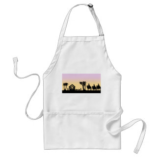 Nativity Silhouette Wise Men on the Horizon Aprons