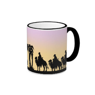 Nativity Silhouette Wise Men on the Horizon Coffee Mugs