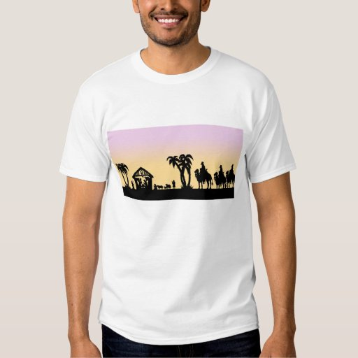 Nativity Silhouette Wise Men on the Horizon Tshirts