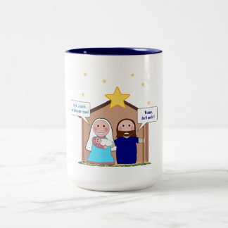 Nativity Sin Two-Tone Coffee Mug
