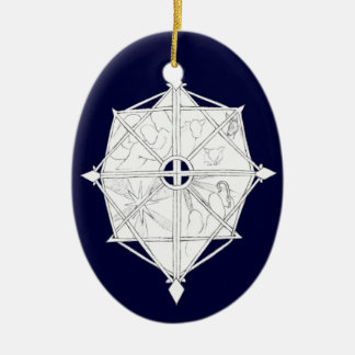 Nativity Snowflake Ceramic Ornament