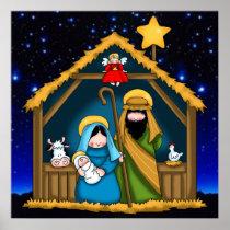 nativity stable scene poster