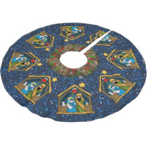 nativity stable scene tree skirt