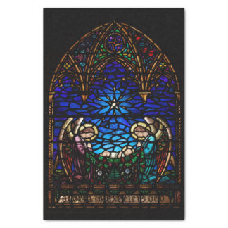 Nativity Stained Glass St Barnabas Christmas Tissue Paper