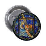 Nativity Stained Glass Window 2 Inch Round Button