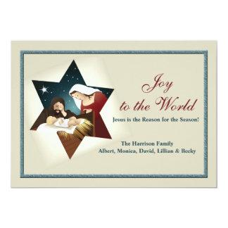 "Nativity Star Holiday Card 5"" X 7"" Invitation Card"