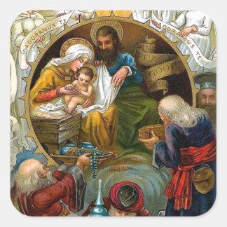 Nativity Square Stickers