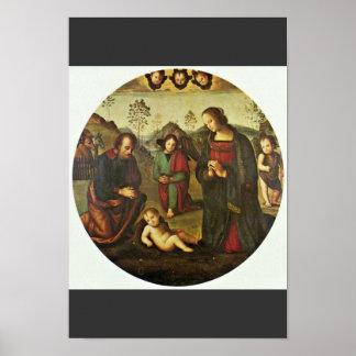 Nativity Tondo By Perugino Pietro (Best Quality) Posters