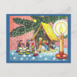 Nativity Under the Tree Christmas Postcard