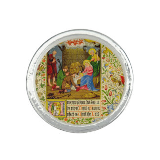 Nativity   Unto you is born this day Photo Rings