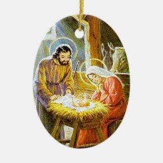 Nativity Vintage Christmas Ornament