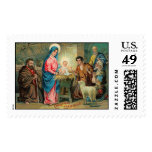 Nativity Vintage Christmas Stamps