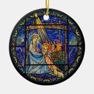 Nativity window ornament