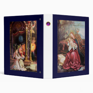 NATIVITY WITH ANGELS _ MAGIC OF CHRISTMAS VINYL BINDERS