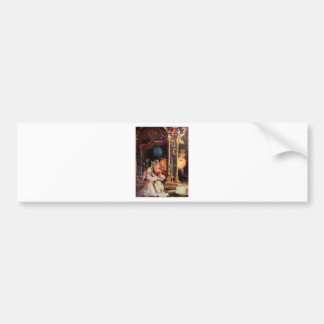 NATIVITY WITH ANGELS - MAGIC OF CHRISTMAS BUMPER STICKER
