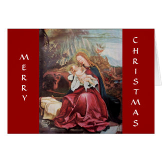NATIVITY WITH ANGELS - MAGIC OF CHRISTMAS CARD