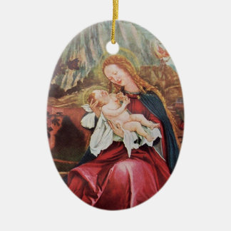 NATIVITY WITH ANGELS - MAGIC OF CHRISTMAS CERAMIC ORNAMENT