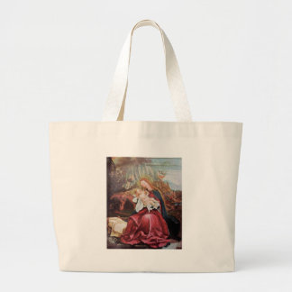 NATIVITY WITH ANGELS - MAGIC OF CHRISTMAS LARGE TOTE BAG