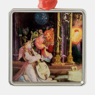 NATIVITY WITH ANGELS - MAGIC OF CHRISTMAS METAL ORNAMENT