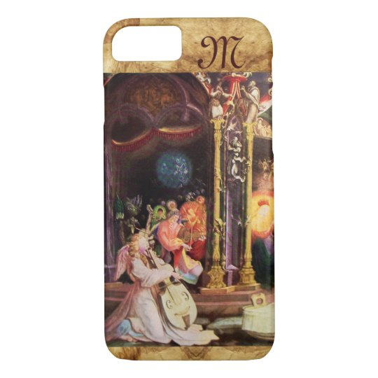 NATIVITY WITH ANGELS - MAGIC OF CHRISTMAS monogram iPhone 8/7 Case