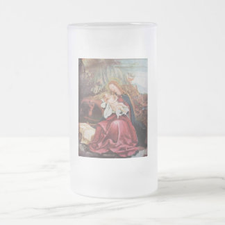 NATIVITY WITH ANGELS - MAGIC OF CHRISTMAS 16 OZ FROSTED GLASS BEER MUG