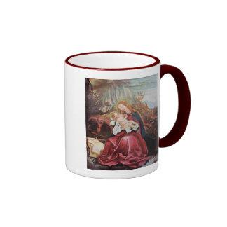 NATIVITY WITH ANGELS - MAGIC OF CHRISTMAS RINGER COFFEE MUG