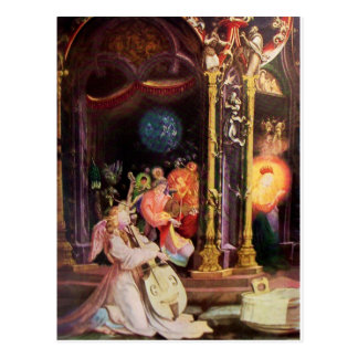 NATIVITY WITH ANGELS - MAGIC OF CHRISTMAS POSTCARD
