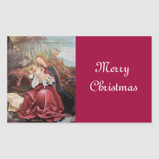 NATIVITY WITH ANGELS - MAGIC OF CHRISTMAS RECTANGULAR STICKER