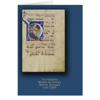 Nativity with Initial H Christmas Card