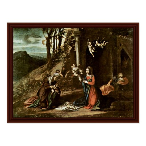 Nativity With St. Elizabeth And John The Baptist Post Cards