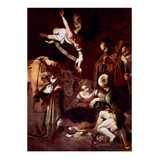 Nativity with St. Francis and St. Lawrence Poster