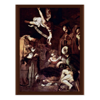 Nativity With St. Lawrence And St. Francis By Mich Postcard