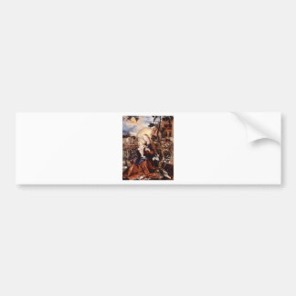 NATIVITY WITH WHITE LILLES - MAGIC OF CHRISTMAS BUMPER STICKER