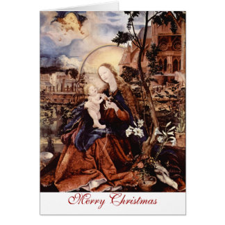 NATIVITY WITH WHITE LILLES - MAGIC OF CHRISTMAS CARD