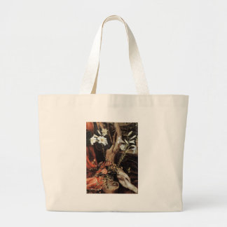 NATIVITY WITH WHITE LILLES - MAGIC OF CHRISTMAS LARGE TOTE BAG