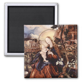 NATIVITY WITH WHITE LILLES - MAGIC OF CHRISTMAS REFRIGERATOR MAGNETS