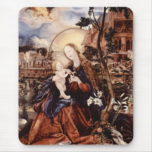 NATIVITY WITH WHITE LILLES - MAGIC OF CHRISTMAS MOUSE PAD