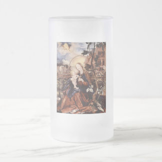 NATIVITY WITH WHITE LILLES - MAGIC OF CHRISTMAS 16 OZ FROSTED GLASS BEER MUG