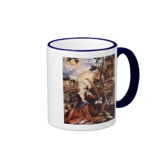 NATIVITY WITH WHITE LILLES - MAGIC OF CHRISTMAS RINGER COFFEE MUG