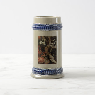 NATIVITY WITH WHITE LILLES - MAGIC OF CHRISTMAS 18 OZ BEER STEIN