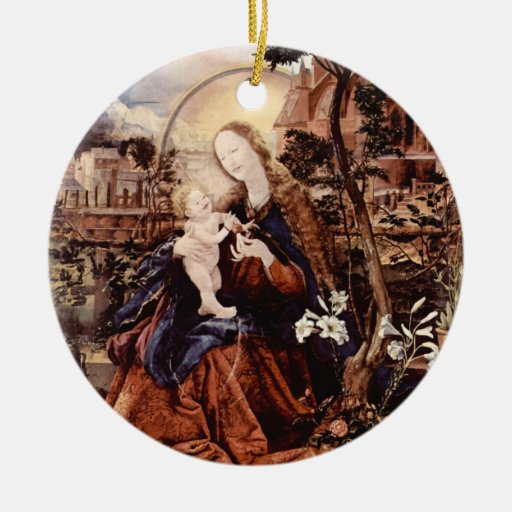 NATIVITY WITH WHITE LILLES - MAGIC OF CHRISTMAS CHRISTMAS TREE ORNAMENTS
