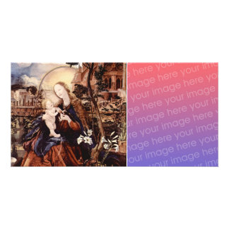 NATIVITY WITH WHITE LILLES - MAGIC OF CHRISTMAS PHOTO CARD