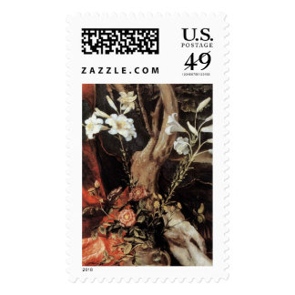 NATIVITY WITH WHITE LILLES - MAGIC OF CHRISTMAS STAMP