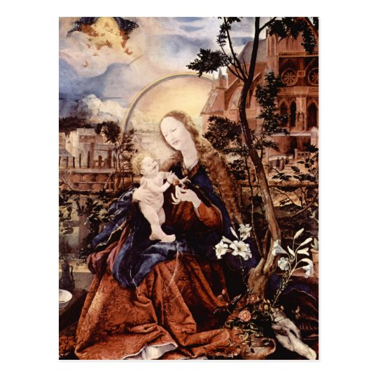 NATIVITY WITH WHITE LILLES - MAGIC OF CHRISTMAS POSTCARD