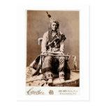 Nativo americano 1880 del vintage del indio del cu