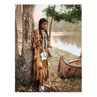 Nativo americano 1897 del vintage de Minnehaha Hia Postales
