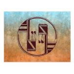 Nativo americano antiguo de los artes tarjetas postales