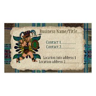 Nativo americano antiguo del guerrero tarjetas de visita