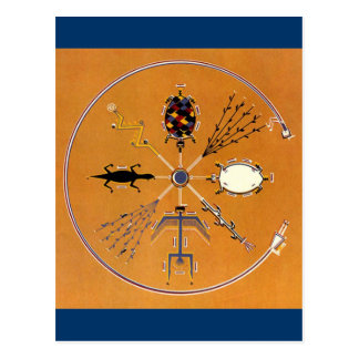 Nativo americano de la pintura de arena tribal tarjetas postales