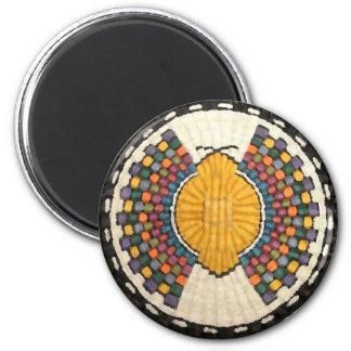 Nativo americano del vintage del adorno de la imán redondo 5 cm